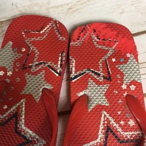 Shoes - Red Flip Flops Blue & Silver Stars ⭐️ 4th of July